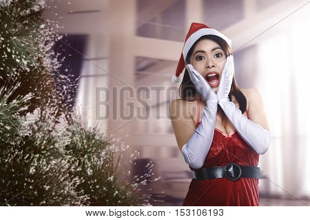 Pretty Asian Woman With Surprised Expressions