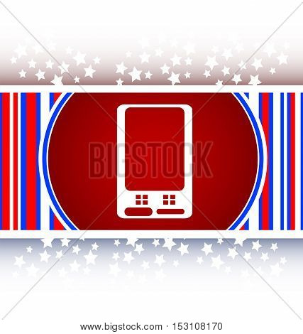white and red web icon button with smart phone