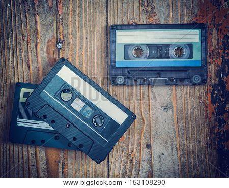 audio cassette close-up sound recording and music retro