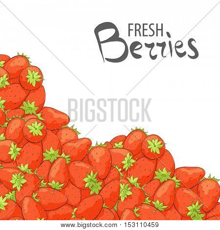 Delicious strawberries on white background