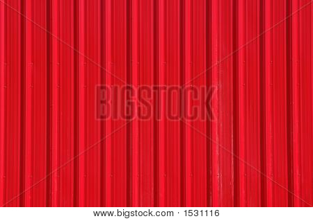 Red Metal Wall