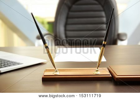 Workplace in businessman's office