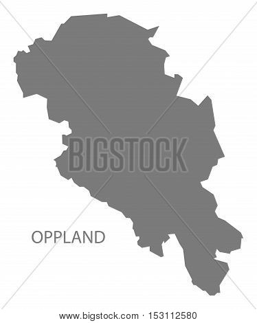 Oppland Norway Map grey illustration high res