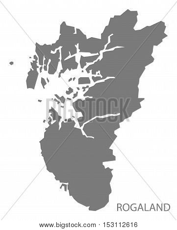 Rogaland Norway Map grey illustration high res