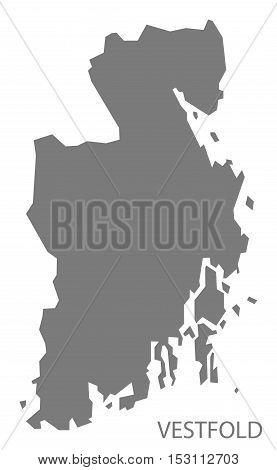 Vestfold Norway Map grey illustration high res