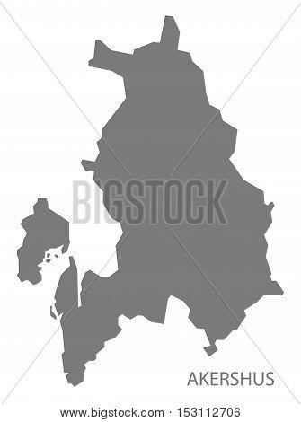 Akershus Norway Map grey illustration high res