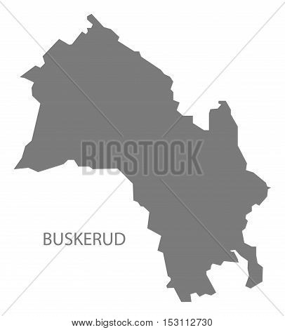 Buskerud Norway Map grey illustration high res