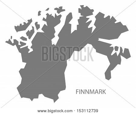 Finnmark Norway Map grey illustration high res