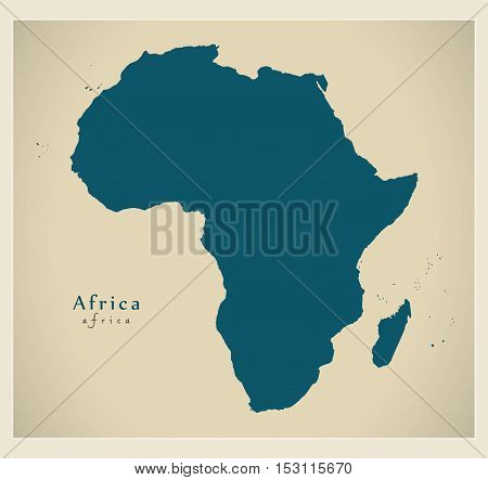 Modern Map - Africa continent complete vector