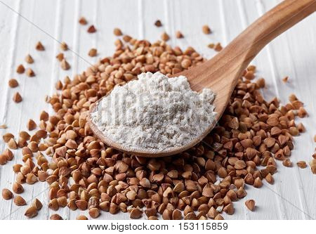 Spoon Of Buckwheat Flour