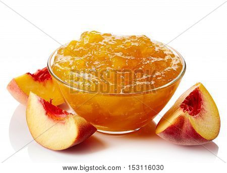 Bowl Of Peach Jam