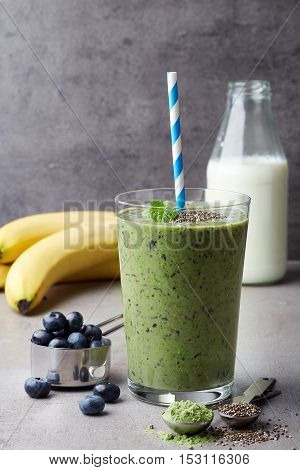 Glass Of Fruit And Seeds Smoothie