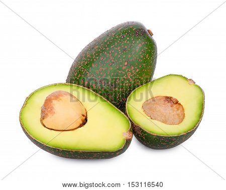 fresh avocado isolated on the white background