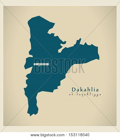 Modern Map - Dakahlia EG vector high res