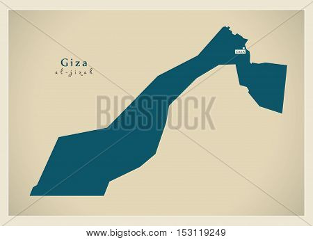 Modern Map - Giza EG vector high res