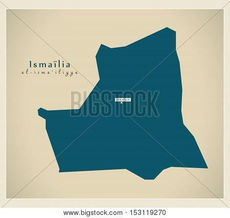 Modern Map - Ismailia EG vector high res