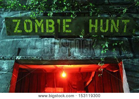 Zombie Hunt Sign