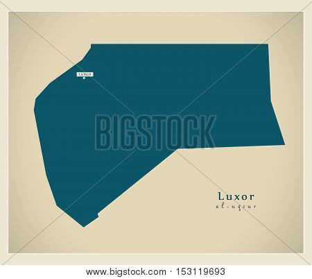 Modern Map - Luxor EG vector high res