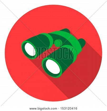 Binoculars icon in flat style isolated on white background. Camping symbol vector illustration.