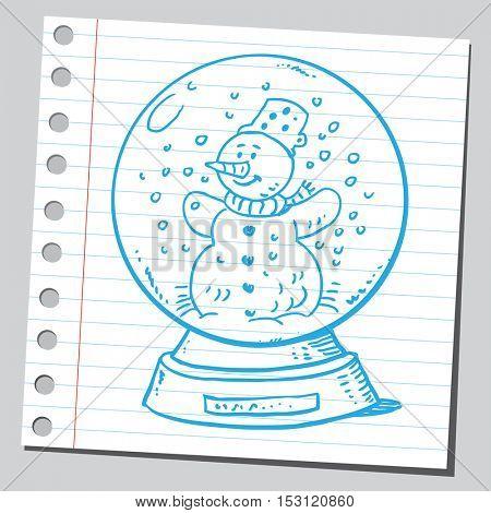 Snow globe with snowman