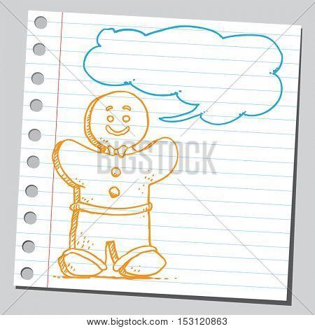Gingerbread man speaking something
