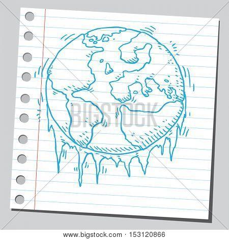 Planet Earth freezing