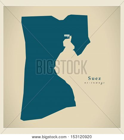 Modern Map - Suez EG vector high res