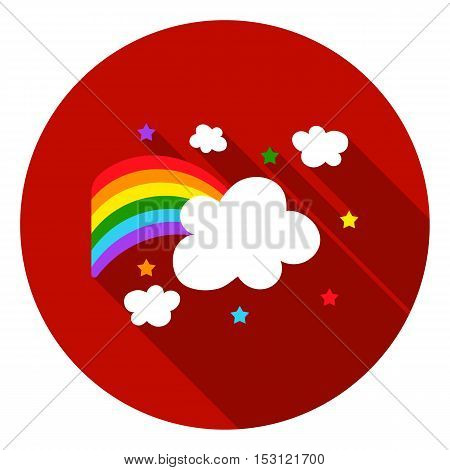 Rainbow icon in flat style isolated on white flat. Gay symbol vector illustration.