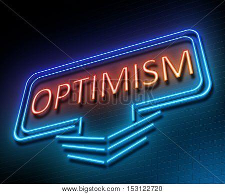 Optimism Sign Concept.