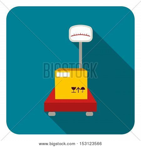 Libra icon in flat style isolated on white background. Logistic symbol vector illustration.