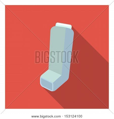 Inhaler icon in flat style isolated on white background. Medicine and hospital symbol vector illustration.