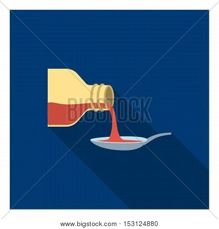 Medicines icon in flat style isolated on white background. Medicine and hospital symbol vector illustration.