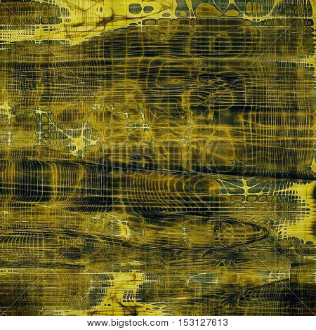 Grunge scratched background, abstract vintage style texture with different color patterns: yellow (beige); brown; gray; green; black