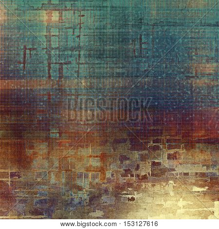 Vintage background - dirty ancient texture. Antique grunge backdrop with different color patterns: yellow (beige); brown; blue; red (orange); purple (violet); cyan
