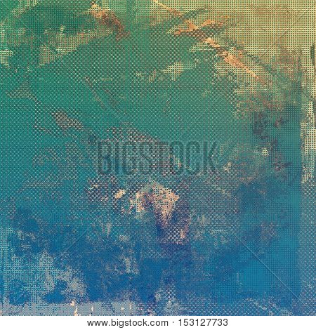 Retro style background with grungy vintage texture and different color patterns: yellow (beige); brown; gray; green; blue; cyan