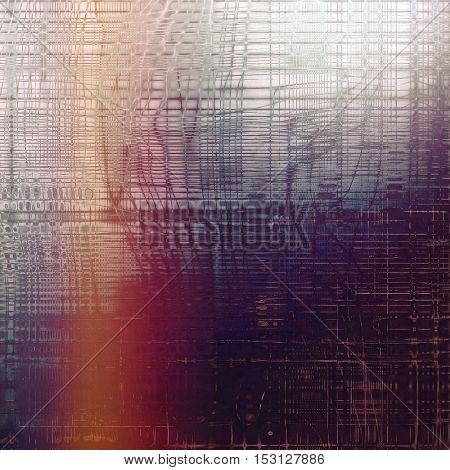 Oldest vintage background in grunge style. Ancient texture with different color patterns: brown; gray; blue; red (orange); purple (violet); pink