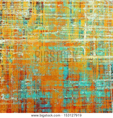 Retro texture, shabby and ragged background in grunge style. With different color patterns: yellow (beige); blue; red (orange); white; cyan