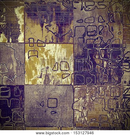 Geometric ancient textured background or shabby backdrop. With different color patterns: yellow (beige); brown; gray; purple (violet)