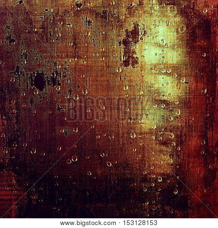 Scratched background with retro style overlay. Aged texture with different color patterns: yellow (beige); brown; red (orange); purple (violet); pink