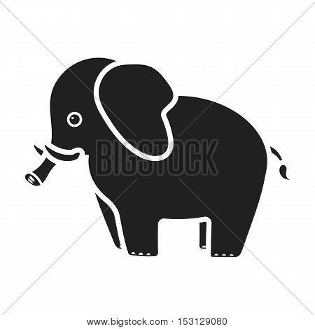 Elephant icon in black style isolated on white background. Animals symbol vector illustration.