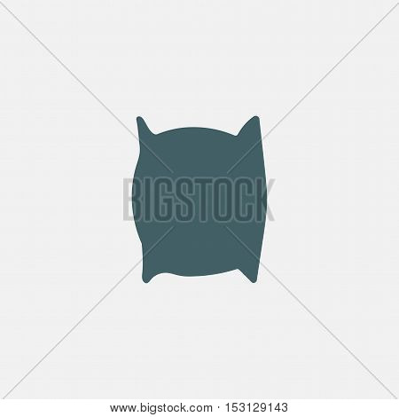 pillow vector icon isolated on white background