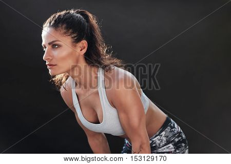 Strong Woman With Muscular Body