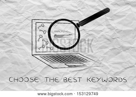 Laptop Progressing Tags For Content, Keywords Suggesting Tools