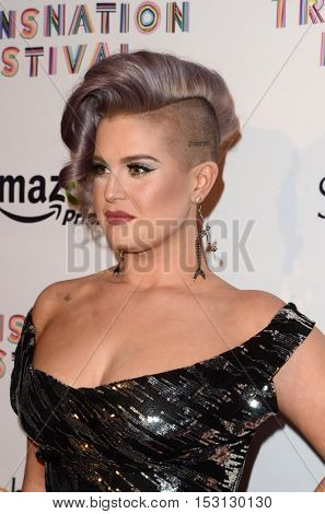 LOS ANGELES - OCT 22:  Kelly Osbourne at the TransNation Miss Queen USA Pageant at Ace Hotel on October 22, 2016 in Los Angeles, CA