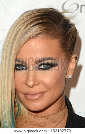 LOS ANGELES - OCT 21:  Carmen Electra at the Marco Marco Fashion Show at Globe Theater on October 21, 2016 in Los Angeles, CA