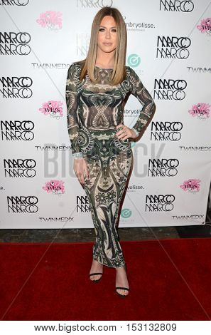 LOS ANGELES - OCT 21:  Kristine Elezaj at the Marco Marco Fashion Show at Globe Theater on October 21, 2016 in Los Angeles, CA