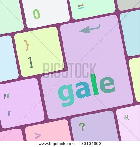 Gale Word On Keyboard Key, Notebook Computer Button