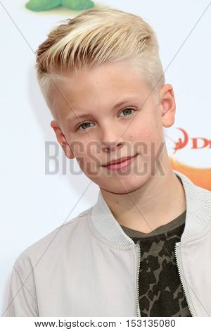 LOS ANGELES - OCT 23:  Carson Lueders at the Trolls Premiere at Village Theater on October 23, 2016 in Westwood, CA