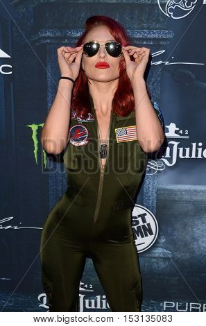 LOS ANGELES - OCT 22:  Sharna Burgess at the 2016 Maxim Halloween Party at Shrine Auditorium on October 22, 2016 in Los Angeles, CA
