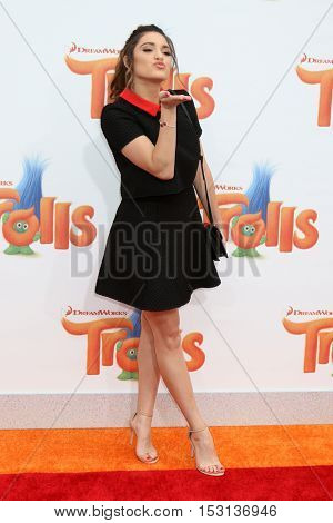 LOS ANGELES - OCT 23:  Luna Blaise Boyd at the Trolls Premiere at Village Theater on October 23, 2016 in Westwood, CA